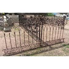 antique french italian iron and zinc balcony railing eron