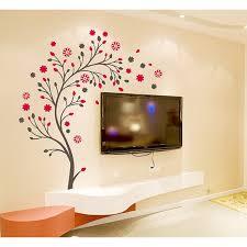 Beautiful Wall Stickers For Room Interior Design Design U0027beautiful Magic Tree With Flowers U0027 Wall Sticker