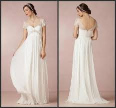 beach wedding dresses 2015 cheap bridal gowns with cap sleeves
