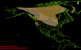 Wyoming Wildfires Map Smoke Over The Skies Of North America Is Another Climate Change
