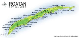 map of roatan honduras map of roatan my