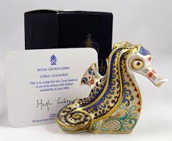 Esszimmertisch Und St Le Ebay Ed Royal Crown Derby Figurine Paperweight Coral Seahorse Royal