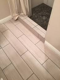 Light Tile With Dark Grout Small Bathroom Remodel