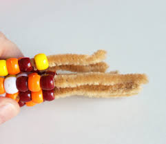 thanksgiving craft pony bead indian corn cutesy crafts