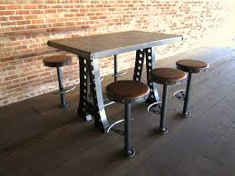 industrial bar table and stools vintage industrial bar stool chair designs vintage industrial