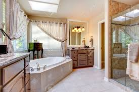 Mauve Color by Beautiful Bathroom Interior In Light Mauve Color With Glass Door