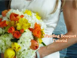 Real Flowers - how to make a wedding bouquet with real flowers d i y wedding