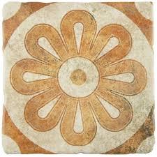 merola tile costa arena decor zinnia 7 3 4 in x 7 3 4 in ceramic