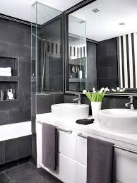 black and white bathroom black and grey bathrooms 2016 grasscloth