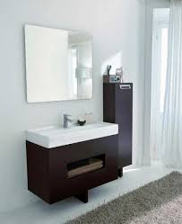 Open Vanity Bathroom Bathroom Cabinets Bosconi Contemporary White Bathroom Single