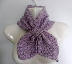 knitting pattern bow knot scarf hand knitted retro 50 s style ascot keyhole bow tie scarf neck tie