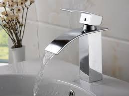 Single Hole Bathroom Sink Faucets Faucet Pagosa Waterfall Single Hole Bathroom Faucet Stunning