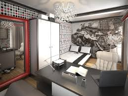 jugendzimmer schwarz wei wandgestaltung jugendzimmer junge schwarz weiß rot mustertapeten