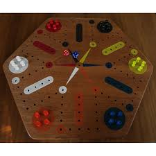 wood fast track aggravation game board with pegs