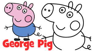 draw peppa pig family george step step easy drawing