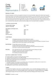 resume and cv samples sales representative cv sample
