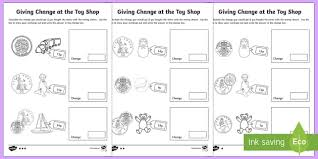 all worksheets money worksheets giving change printable
