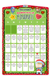 teach kids about the joy of giving free printable calendar with