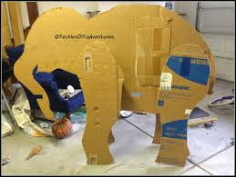 tutorial on how to make paper mache elephant almost life size