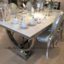 marble and stainless steel dining table china creative and natural arianna marble dining table stainless