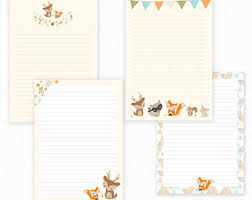 unicorn printable writing paper stationary paper letter