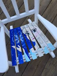 Kid Rocking Chair Hand Painted Elsa Kids Rocking Chair Redfeatherdesigns Frozen