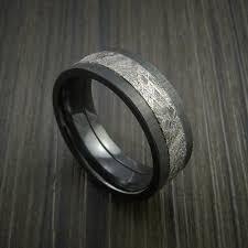 meteorite mens wedding band custom gibeon meteorite rings revolution jewelry
