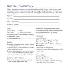 birth plan printable editable keepsake by thegeekerystore on etsy