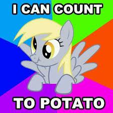 Funny Pony Memes - mlp uuuhhh counts on fingers 1 uhh 2 uuuhhh