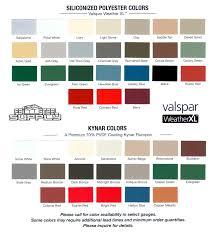 valspar metal roofing color chart