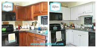 painted kitchen cabinets before and after white kitchen reveal a before after mom 4 real