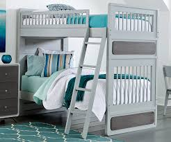 East End Twin Size Bunk Bed In Grey Finish N NE Kids - Ne kids bunk beds
