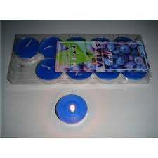 blue tea light candles azul blue tea lights candles pack of 10 blue tea lights candle t