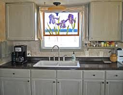single wide mobile home makeover remodel small kitchen painted