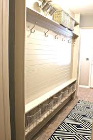 Built In Storage Bench Long Narrow Hall Bench Narrow Entryway Bench With Storage Narrow