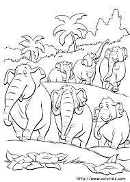 COLORIAGE  Hathi et les éléphants