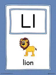 letter l large alphabet picture card printable color