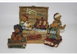 boyds bears bailey u0027s ol u0027trunk bearstone 10th anniversary set of