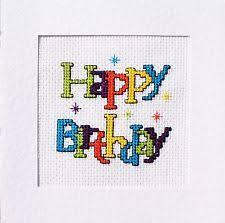 cross stitch birthday cards ebay