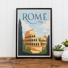 rome travel print by i heart travel art notonthehighstreet com