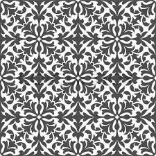 damask floral seamless pattern with gray arabesque ornament of