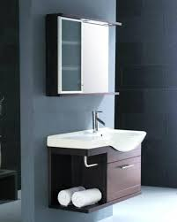 Modern Vanity Units For Bathroom by Cool Bathroom Mirror Cabinets With Three Panels Storage Over