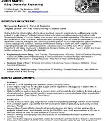 Electrical Project Engineer Resume Sample Download Mechanical Project Engineer Sample Resume