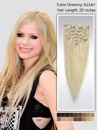 hair color 201 20 inch blonde straight clip in hair extensions 115g uss613a20