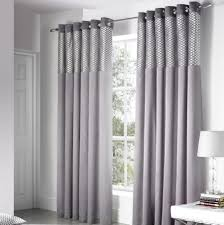 Grey And Silver Curtains Design Savoy Panel Eyelet Fully Lined Ready Made Curtains