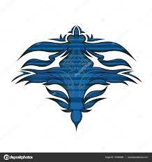 organic ornament blue color stock vector batoo21 137089862