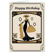 art deco birthday greeting cards zazzle