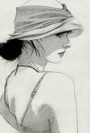 david malan pencil contemporary figurative beautiful female head