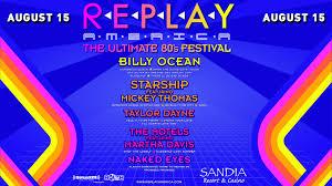 replay america w billy ocean taylor dayne starship motels