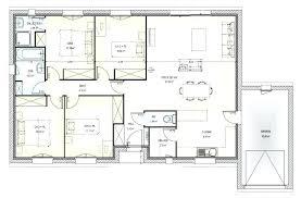 plan villa plain pied 4 chambres plan maison en l 4 chambres plan maison 4 chambres 100m2 cildt org